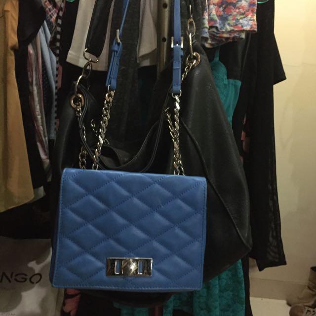 Zara small bodycross bag in blue (pristine condition)
