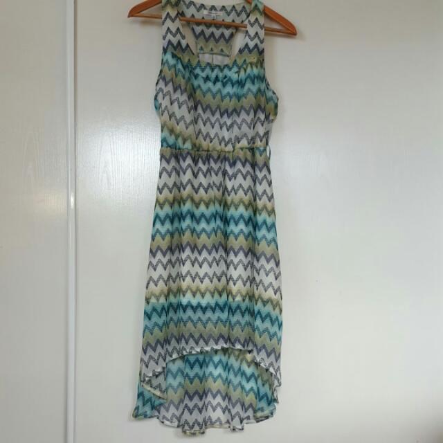 Zigzag Flowy Dress S/8