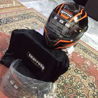 Grayfosh Fullface Helmet - Model G2500 SI (Black Orange)