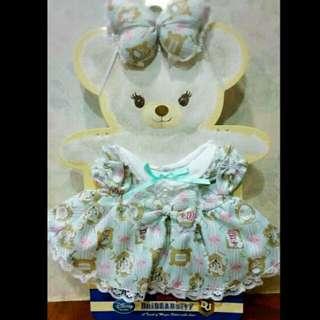 大學熊 絕版 愛麗絲 帕妃 衣服 全新