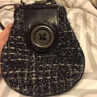 Mimco Black Side Small Shoulder Bag Clutch