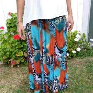 Multi Coloured Maxi Skirt