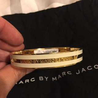 Marc By Marc Jacobs Gold And Cream Bangle