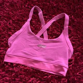 Lorna Jane Pink Crop Top Sports Bra Size XS