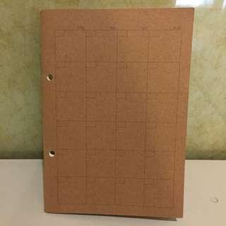 徵 無印 月曆筆記本子