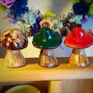 釉彩陶瓷🔹攝影道具🔹擺設陳列🔹傘菇
