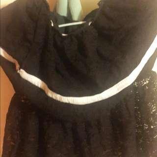 (黑色)平口小洋裝…含運