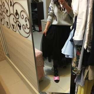 韓版長紗裙(含運)9成新
