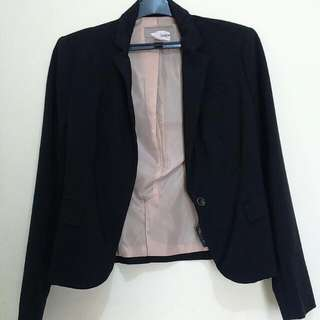 Forever 21, Blazer, Black, Size XS Fit To M (unbuttoned)