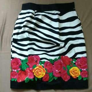 Unbranded, Zebra Flowery Skirt