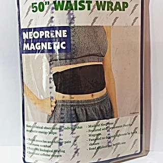 Neoprene Magnetic Waist Wrap. It Relax Muscles And Relieve Pain.