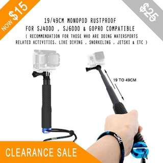 PRICE REDUCED TO $15.00 - 19/49CM Extendable Monopod / Selfie Stick - Blue