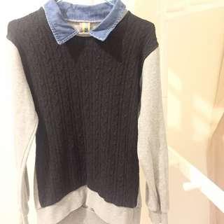 韓國製學生風長袖上衣(購自韓國)