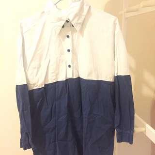 長版連身襯衫