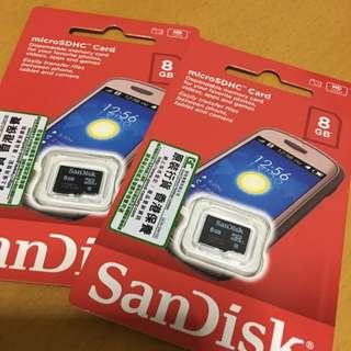(抵!)ScanDisk MicroSDHV card 8GB 正版 memory card