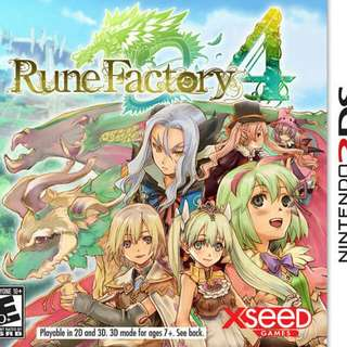 3DS Rune Factory 4