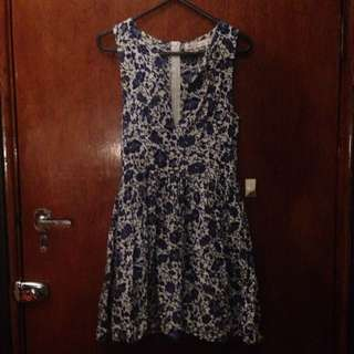Blue Floral Dress Size 6