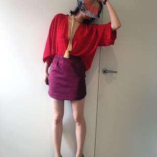 ASOS Pencil Mini Skirt With Dolphin Hem