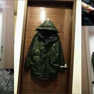 降✔✅綠色長板飛行外套