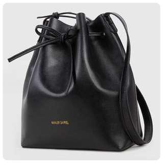 [BN] Mansur Gavriel Leather Bucket Bag With Pouch