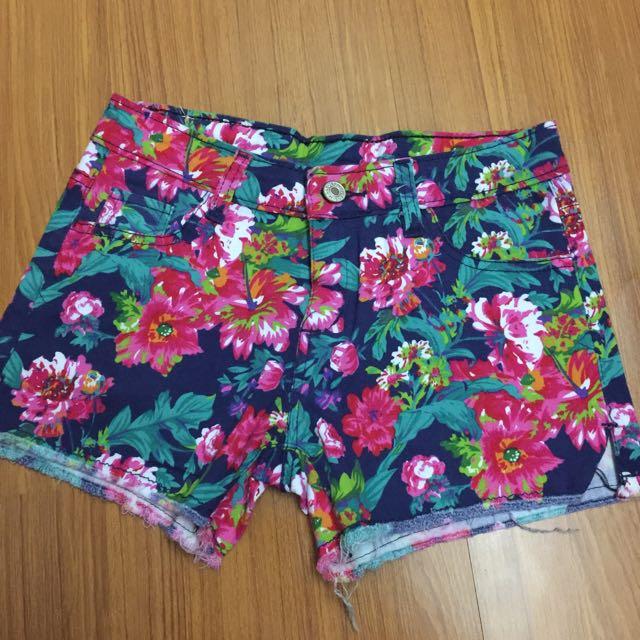 (二手)高腰設計歐美風格短褲