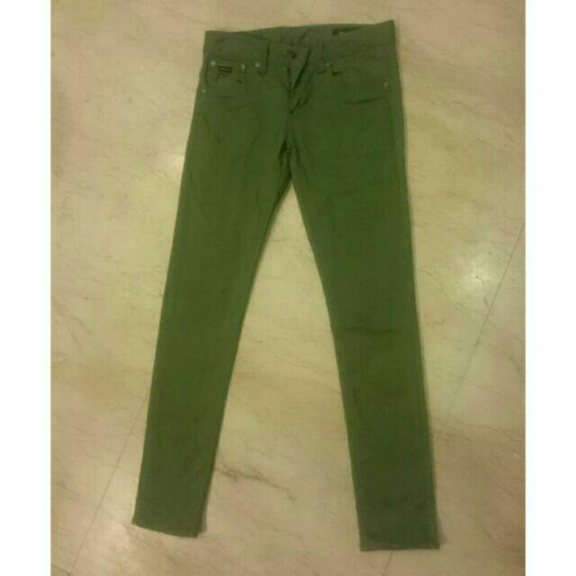二手 復古綠色窄褲 男28腰