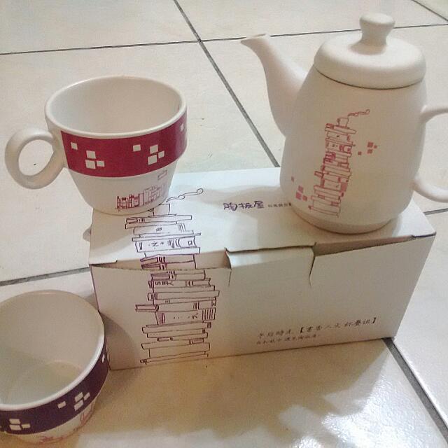 陶板屋 限量 陶瓷茶壺茶杯組