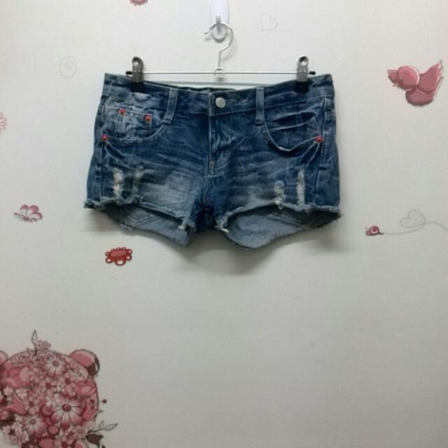 牛仔短褲_S