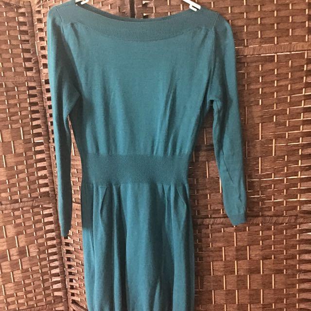 ASOS - Dark Turquoise Woollen Dress