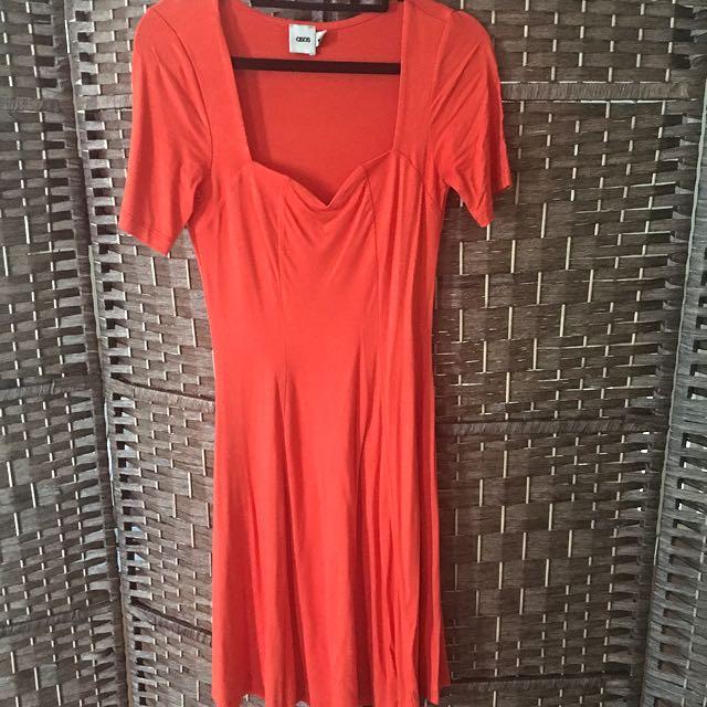ASOS - Orange Mid Length Dress