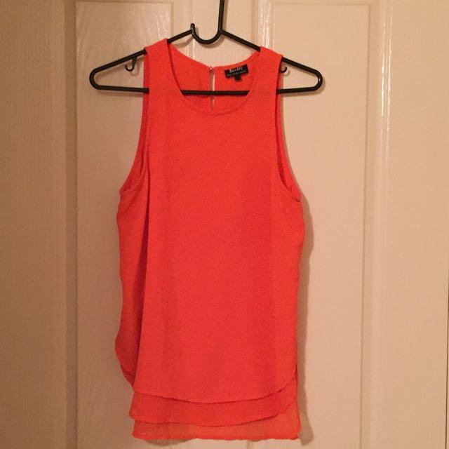 Bardot Orange Top