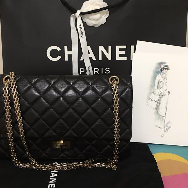 Chanel 2.55 復刻 黑金