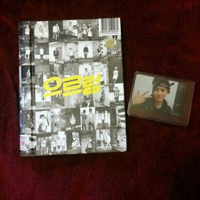 Exo Xoxo repackage Growl (Kiss ver ) with Suho photocard Kpop