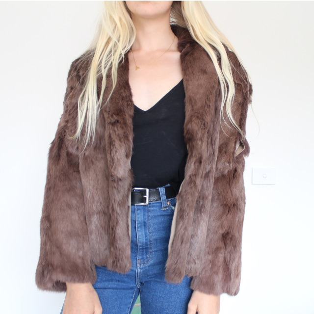 FAUX FUR Vintage Jacket