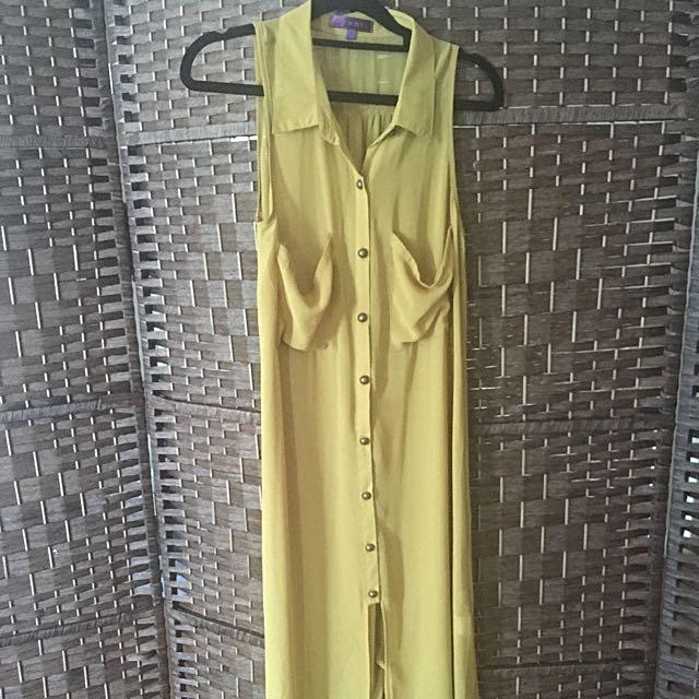 Full Length Mustard Dress