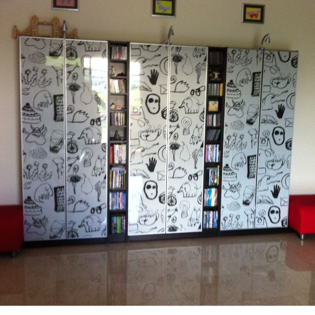 Ikea billy bookcases 3 gnedby cd dvd racks 2 - Ikea porta cd billy ...