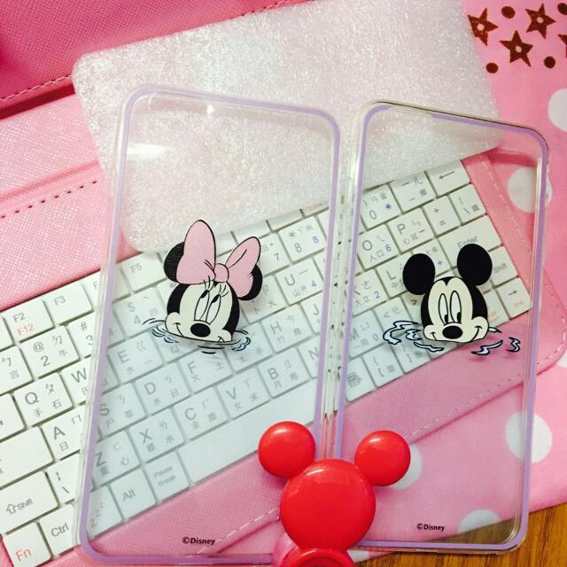 「現貨免運」米奇米妮戲水情侶手機殼iphone6/6s