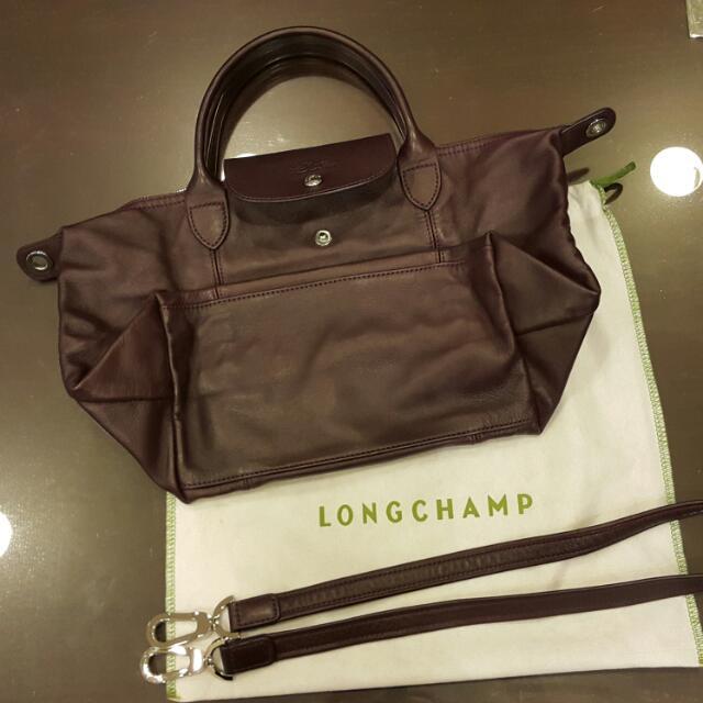 Longchamp 小羊皮(s號)(深紫)