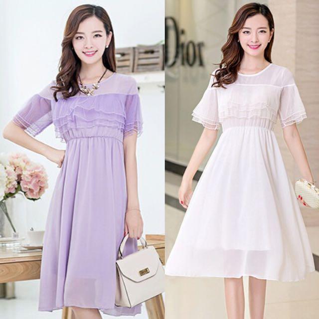 b045b60f4ad5 Mesh Tiered Layer Sweet Korean Style Flowy Princess Flair Fairy ...