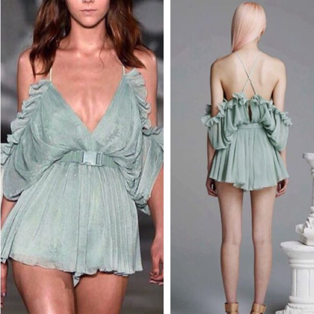 dd03a6d4b7e More Colors) Alice McCall Inspired Pleated Off Shoulder Playsuit ...