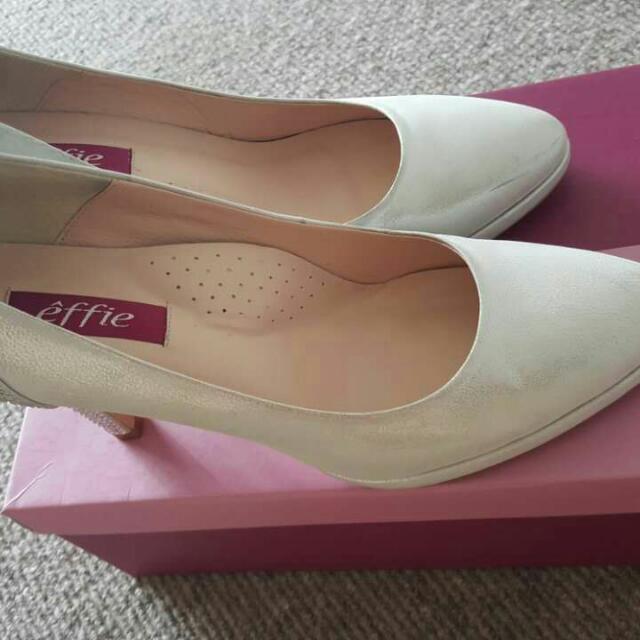 Pearl White High Heel