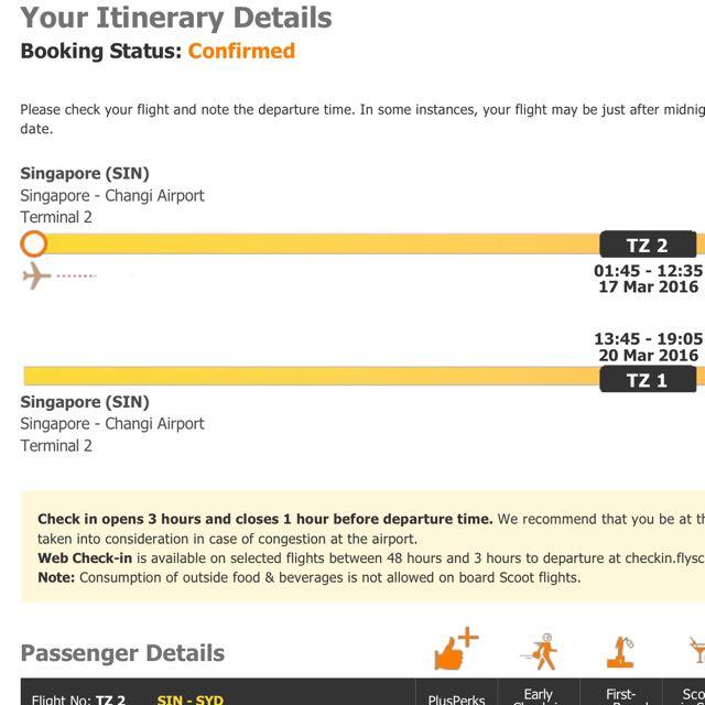 Return Air Ticket To Sydney Australia From Singapore