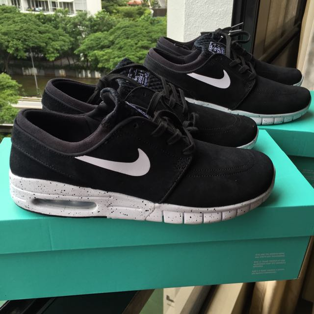 SALE 💞🔥  10 OFF Nike SB Stefan Janoski Max Black and White Suede