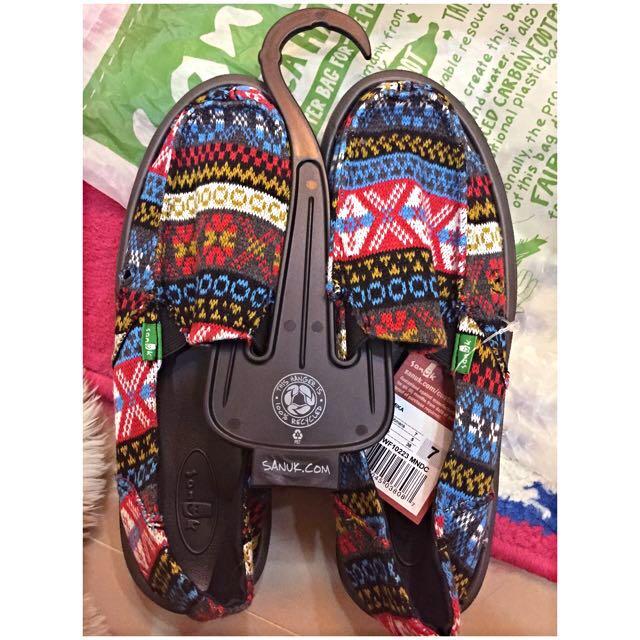 Sanuk 民族風懶人鞋