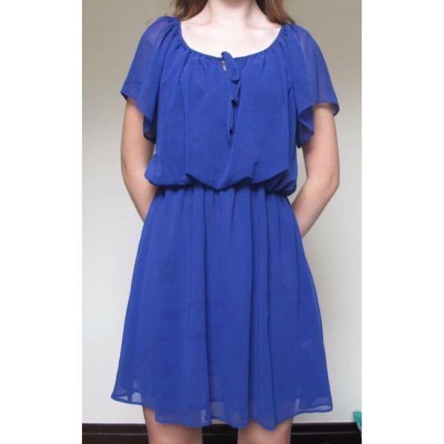 Violet Flowing Dress