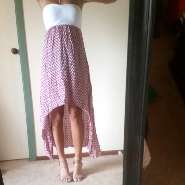 Strapless Waterfall Dress