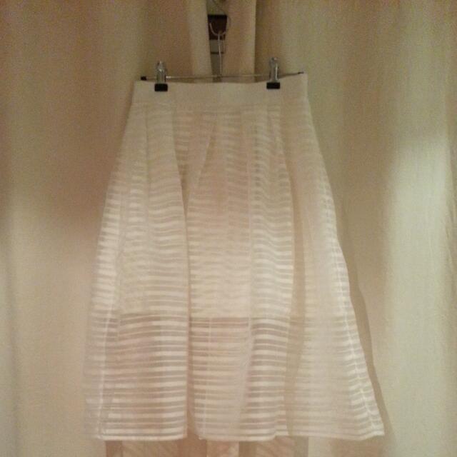Tiger Mist White Twist Skirt Size M