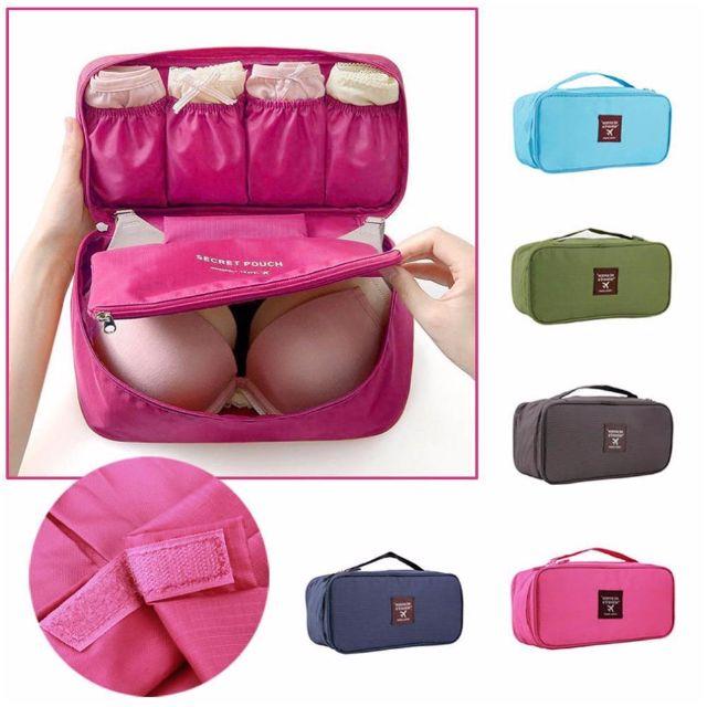 Waterproof Portable Travel Bra Underwear Lingerie Organiser Bag