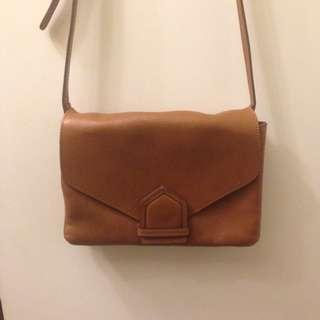 西班牙Massimo Dutti 信差包 Messenger Bag 9成新 少用 Zara同集團的品牌