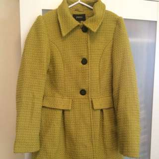 Winter Coat, Gold/musterd Colour, Size 10